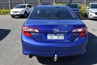 2013 Toyota Camry ASV50R Atara S Blue 6 Speed Sports Automatic Sedan.