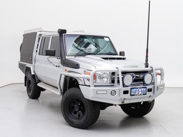 Used Toyota Landcruiser VDJ79R GXL (4x4), 2019 Toyota Landcruiser VDJ79R GXL (4x4) Silver 5 Speed Manual Double Cab Chassis