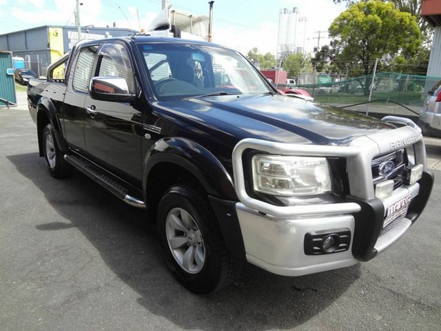 Used Ford Ranger PJ XLT (4x4) Coopers Plains, 2008 Ford Ranger PJ XLT (4x4) Black 5 Speed Manual Super Cab Utility