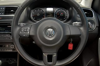 2012 Volkswagen Polo 6R MY13 77TSI DSG Comfortline Black 7 Speed Sports Automatic Dual Clutch