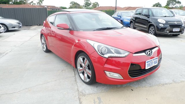 Used Hyundai Veloster FS + Coupe St James, 2012 Hyundai Veloster FS + Coupe Red 6 Speed Manual Hatchback