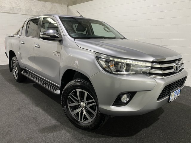 Used Toyota Hilux GUN126R SR5 Double Cab Glenorchy, 2016 Toyota Hilux GUN126R SR5 Double Cab Silver 6 Speed Sports Automatic Utility