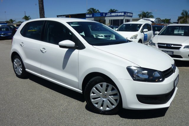 Used Volkswagen Polo 6R MY15 66TSI Trendline Cheltenham, 2014 Volkswagen Polo 6R MY15 66TSI Trendline Antartic White 5 Speed Manual Hatchback