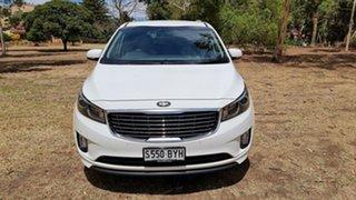 2015 Kia Carnival YP MY15 SLi White 6 Speed Sports Automatic Wagon.
