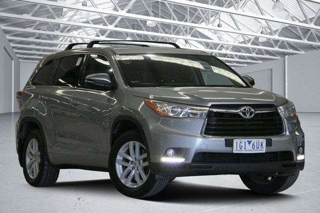 Used Toyota Kluger GSU55R GX (4x4) Altona North, 2015 Toyota Kluger GSU55R GX (4x4) Silver Sky 6 Speed Automatic Wagon