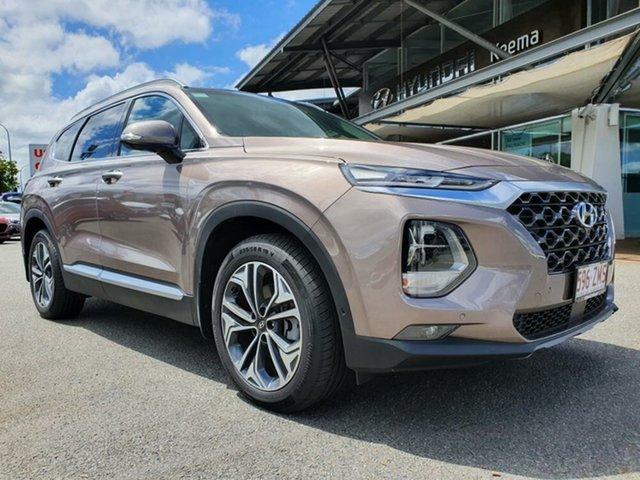 Demo Hyundai Santa Fe TM.2 MY20 Highlander Springwood, 2019 Hyundai Santa Fe TM.2 MY20 Highlander Tan Brown 8 Speed Sports Automatic Wagon
