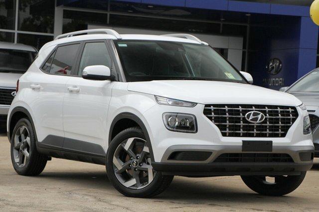 New Hyundai Venue QX.V3 MY21 Elite Ferntree Gully, 2020 Hyundai Venue QX.V3 MY21 Elite Polar White 6 Speed Automatic Wagon