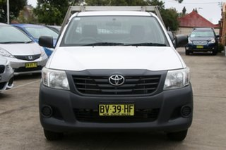 2013 Toyota Hilux TGN16R MY12 Workmate Glacier White 4 Speed Automatic Cab Chassis