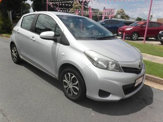 2013 Toyota Yaris NCP130R YR Silver 4 Speed Automatic Hatchback.