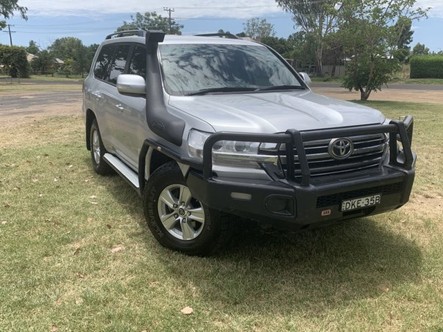 Used Toyota Landcruiser VDJ200R GXL Moree, 2016 Toyota Landcruiser VDJ200R GXL Silver Pearl 6 Speed Sports Automatic Wagon