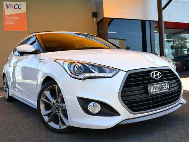 Used Hyundai Veloster FS4 Series II SR Coupe D-CT Turbo Fawkner, 2015 Hyundai Veloster FS4 Series II SR Coupe D-CT Turbo White 7 Speed Sports Automatic Dual Clutch