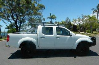 2011 Nissan Navara D40 S6 MY12 ST White 6 Speed Manual Utility.