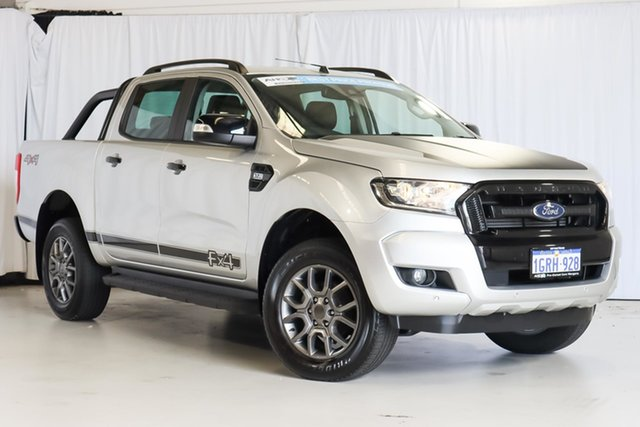 Used Ford Ranger PX MkII 2018.00MY FX4 Double Cab Wangara, 2018 Ford Ranger PX MkII 2018.00MY FX4 Double Cab Silver 6 Speed Sports Automatic Utility