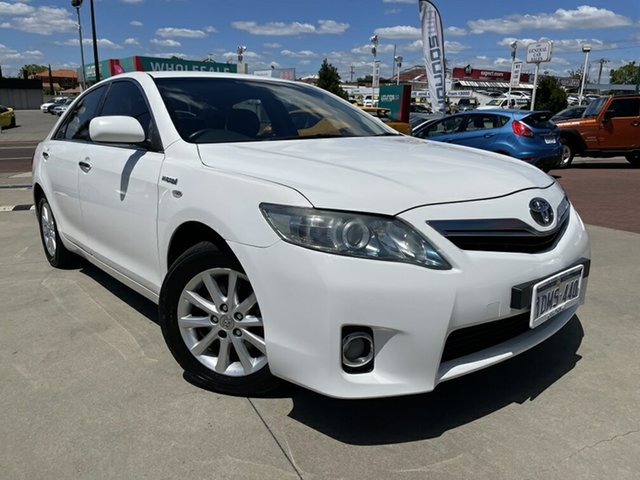 Used Toyota Camry AHV40R MY10 Hybrid Victoria Park, 2010 Toyota Camry AHV40R MY10 Hybrid White 1 Speed Constant Variable Sedan Hybrid