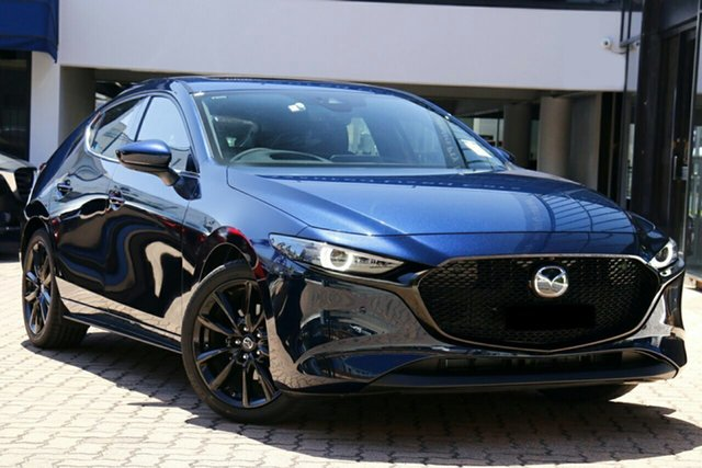 New Mazda 3 BP2HLA G25 SKYACTIV-Drive Astina Hillcrest, 2020 Mazda 3 BP2HLA G25 SKYACTIV-Drive Astina Deep Crystal Blue 6 Speed Sports Automatic Hatchback