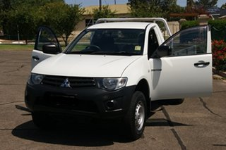 2013 Mitsubishi Triton MN MY14 Update GL White 5 Speed Manual Cab Chassis