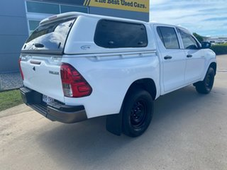 2016 Toyota Hilux GUN125R Workmate Double Cab White 6 Speed Sports Automatic Utility.