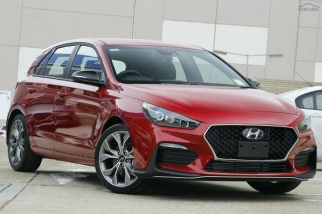 New Hyundai i30 PD.V4 MY21 N Line D-CT Cardiff, 2020 Hyundai i30 PD.V4 MY21 N Line D-CT Firey Red 7 Speed Sports Automatic Dual Clutch Hatchback