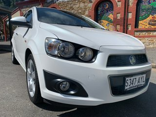 2013 Holden Barina TM MY13 CDX White 6 Speed Automatic Sedan