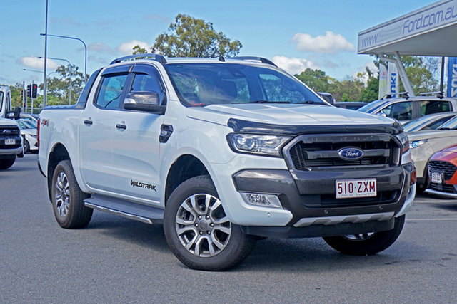 Used Ford Ranger PX MkII 2018.00MY Wildtrak Double Cab Ebbw Vale, 2018 Ford Ranger PX MkII 2018.00MY Wildtrak Double Cab White 6 Speed Sports Automatic Utility