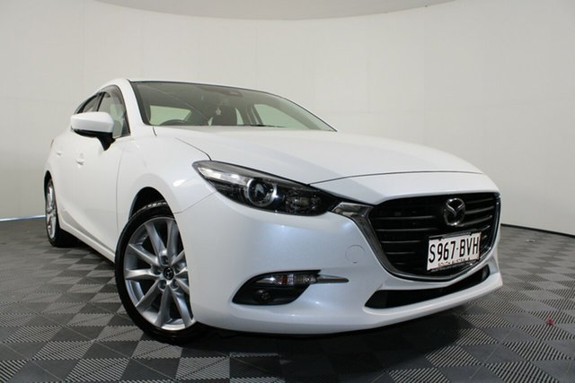 Used Mazda 3 BN5238 SP25 SKYACTIV-Drive Wayville, 2017 Mazda 3 BN5238 SP25 SKYACTIV-Drive Snowflake White 6 Speed Sports Automatic Sedan