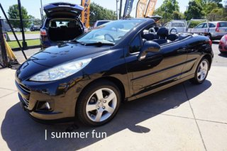 2011 Peugeot 207 A7 Series II MY10 CC Sportium Onyx Black 4 Speed Sports Automatic Cabriolet