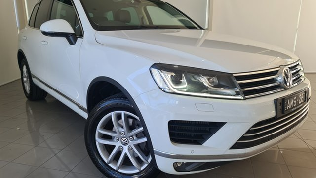 Used Volkswagen Touareg 7P MY17 150TDI Tiptronic 4MOTION Element Deer Park, 2017 Volkswagen Touareg 7P MY17 150TDI Tiptronic 4MOTION Element White 8 Speed Sports Automatic