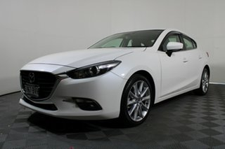 2017 Mazda 3 BN5238 SP25 SKYACTIV-Drive Snowflake White 6 Speed Sports Automatic Sedan.