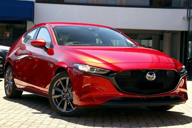 New Mazda 3 BP2HL6 G25 SKYACTIV-MT Evolve Wollongong, 2020 Mazda 3 BP2HL6 G25 SKYACTIV-MT Evolve Soul Red Crystal 6 Speed Manual Hatchback