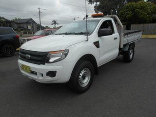 2014 Ford Ranger PX XL 3.2 (4x4) White 6 Speed Automatic Cab Chassis.