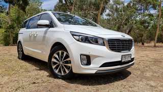 2015 Kia Carnival YP MY15 SLi White 6 Speed Sports Automatic Wagon.