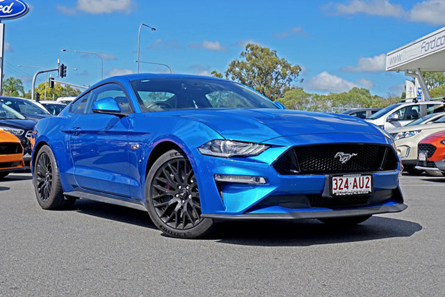 Used Ford Mustang FN 2020MY GT Ebbw Vale, 2019 Ford Mustang FN 2020MY GT Blue 10 Speed Sports Automatic Fastback
