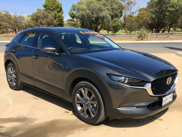 Used Mazda CX-30 DM2WLA G25 SKYACTIV-Drive Astina Berri, 2020 Mazda CX-30 DM2WLA G25 SKYACTIV-Drive Astina Machine Grey 6 Speed Sports Automatic Wagon