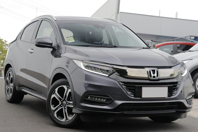 New Honda HR-V MY21 VTi-LX Newstead, 2020 Honda HR-V MY21 VTi-LX Modern Steel 1 Speed Constant Variable Hatchback