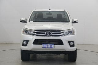 2017 Toyota Hilux GUN126R SR5 Double Cab Pearl White 6 Speed Sports Automatic Utility.