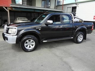 2008 Ford Ranger PJ XLT (4x4) Black 5 Speed Manual Super Cab Utility.
