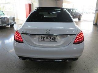 2014 Mercedes-Benz C-Class W205 C250 7G-Tronic + White 7 Speed Sports Automatic Sedan