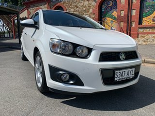 2013 Holden Barina TM MY13 CDX White 6 Speed Automatic Sedan.
