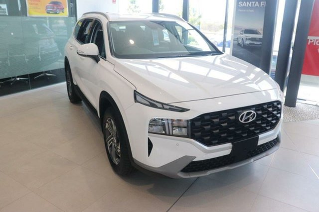 New Hyundai Santa Fe Tm.v3 MY21 Active DCT Mount Gravatt, 2020 Hyundai Santa Fe Tm.v3 MY21 Active DCT White Cream 8 Speed Sports Automatic Dual Clutch Wagon