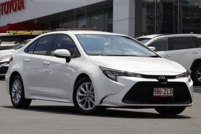 Pre-Owned Toyota Corolla Mzea12R Ascent Sport Woolloongabba, 2019 Toyota Corolla Mzea12R Ascent Sport White 10 Speed Constant Variable Sedan
