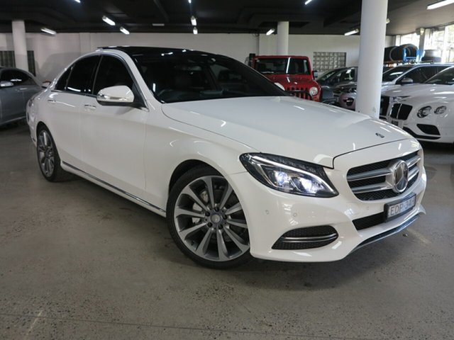 Used Mercedes-Benz C-Class W205 C250 7G-Tronic + Albion, 2014 Mercedes-Benz C-Class W205 C250 7G-Tronic + White 7 Speed Sports Automatic Sedan