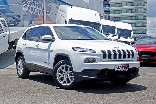 Used Jeep Cherokee KL MY15 Sport Springwood, 2015 Jeep Cherokee KL MY15 Sport White 9 Speed Sports Automatic Wagon