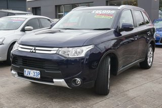 2014 Mitsubishi Outlander ZJ MY14.5 LS 4WD Blue 6 Speed Sports Automatic Wagon