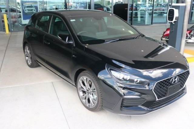 New Hyundai i30 PD.V4 MY21 N Line Premium Augustine Heights, 2020 Hyundai i30 PD.V4 MY21 N Line Premium Phantom Black 6 Speed Manual Hatchback