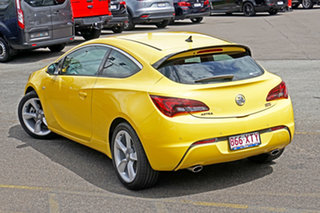 2015 Holden Astra PJ MY15.5 GTC Yellow 6 Speed Manual Hatchback.