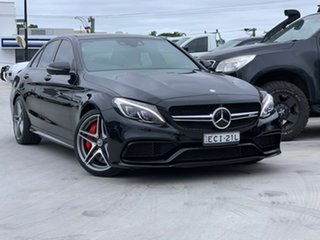 2016 Mercedes-Benz C-Class W205 807MY C63 AMG SPEEDSHIFT MCT S Black 7 Speed Sports Automatic Sedan.