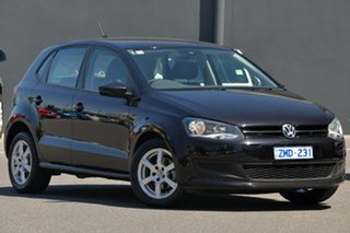 2012 Volkswagen Polo 6R MY13 77TSI DSG Comfortline Black 7 Speed Sports Automatic Dual Clutch.
