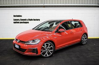 2019 Volkswagen Golf 7.5 MY19.5 GTI DSG Red/Black 7 Speed Sports Automatic Dual Clutch Hatchback.