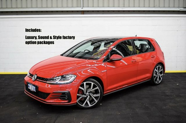 Used Volkswagen Golf 7.5 MY19.5 GTI DSG Canning Vale, 2019 Volkswagen Golf 7.5 MY19.5 GTI DSG Red/Black 7 Speed Sports Automatic Dual Clutch Hatchback