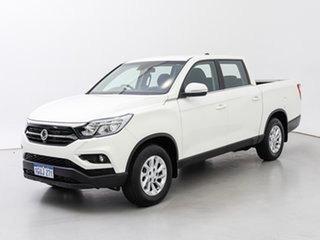 2019 Ssangyong Musso Q200 MY19 ELX White 6 Speed Automatic Dual Cab Utility.